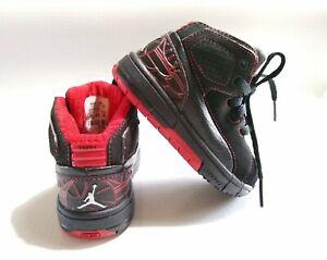 Jordan Retro TEAM Toddler Child Black Red Boy's Shoes Size ...