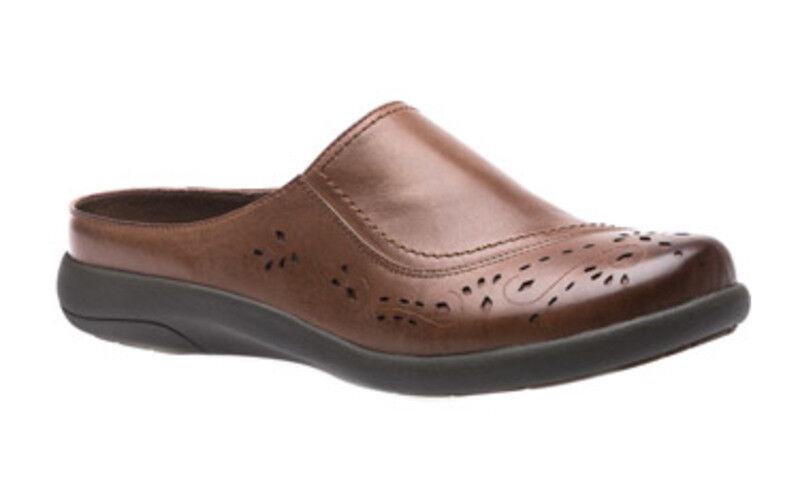 presa di marca ABEO Donna  PEW1062 PEW1062 PEW1062 'EDITH' LASER CUTOUT  LEATHER Coffee SLIP ON scarpe -  11  rivenditori online