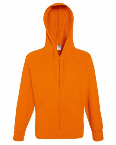Fruit Of The Loom Men/'s Lightweight Full Zipped Hooded Raglan Sweat Jacket