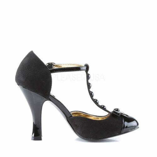 Up Shoe Couture Pin Evening Rockabilly Dance Sandalo Smitten 10 Nero Table PF7qw6d