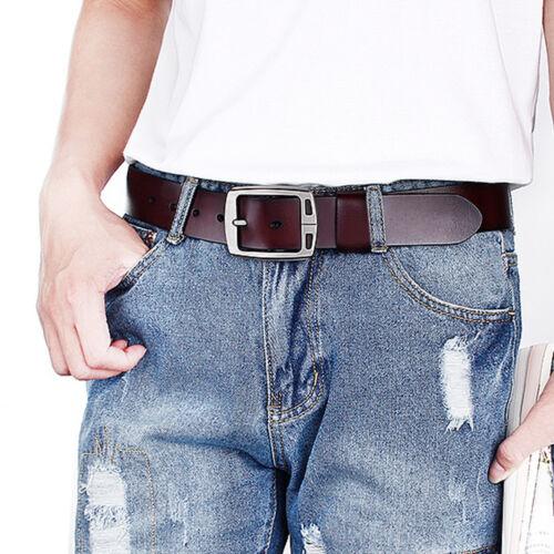 """Homme Ceinture pour jean homme ceinture VACHETTE VÉRITABLE Ceinture En Cuir Taille 30/"""" 52/"""" 3 Color"""