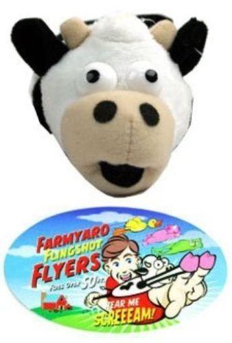 Slingshot Flying Screaming Cow Flys 50 Feet Mooo!