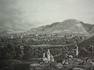 GOSLAR-VOM-STEINBERGE-AUS-Stahlstich-um-1850-von-A-R-Schule-nach-W-Ripe-ND