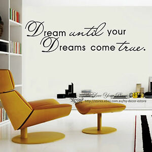 Image Is Loading Dream Until Your Dreams Come True Wall Art