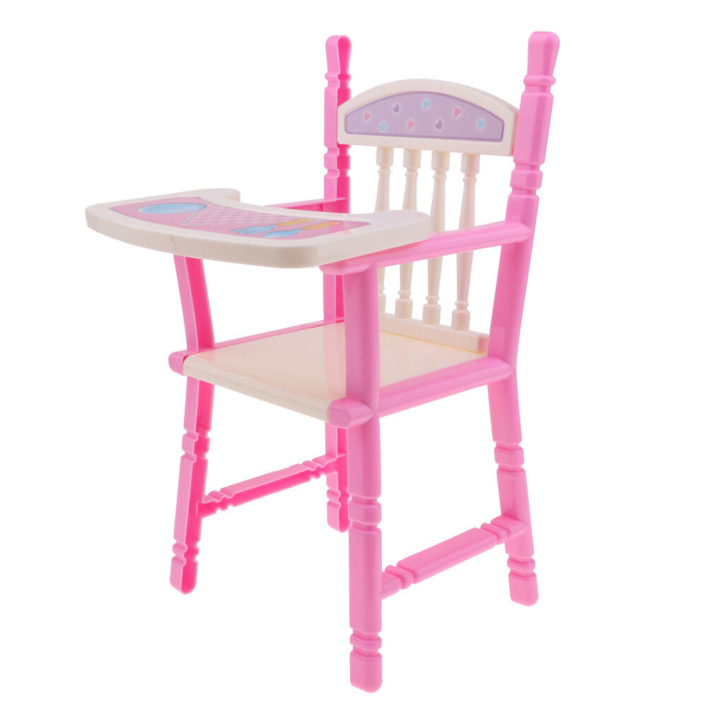 """Pink Toddler Dining Chair for 9-11"""" Reborn High Chair Baby Doll Accessories"""