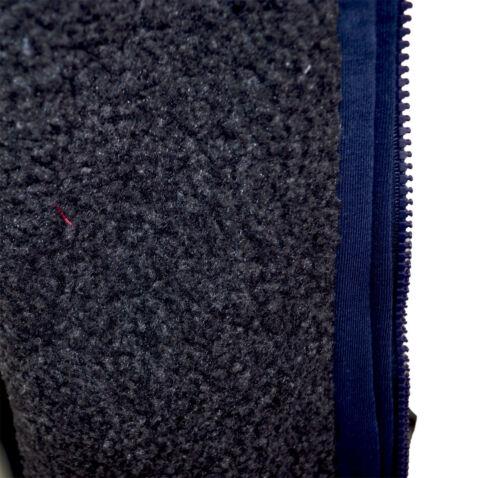 Mens Collared Sherpa Fur Lined Padded Fleece Jacket Coat Plain Full Zip M-XXL