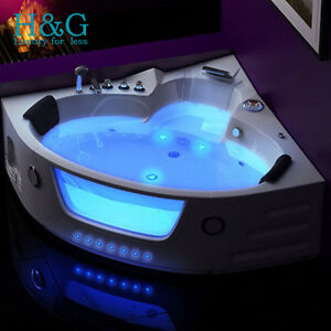 whirlpool corner bath 2 person shower spa jacuzzi massage. Black Bedroom Furniture Sets. Home Design Ideas