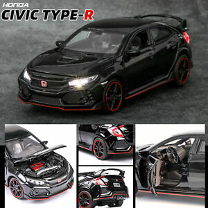 Honda-10th-Civic-Type-R-1-32-Diecast-Model-Car-Toy-Collection-Light-amp-Sound-Gift