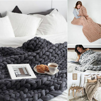 Sporting Neu Warm Luxus Dick Gestrickte Sofa Decke Chunky Strickdecke Knit Bett Überwurf Home & Garden Blankets & Throws