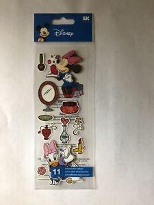 EK SUCCESS ALL DISNEY LOT of 16 Stickers NEW Mickey Minnie Princess Dwarfs Chip