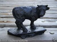 Handcrafted In Kentucky From Coal Cow On Base Figurine