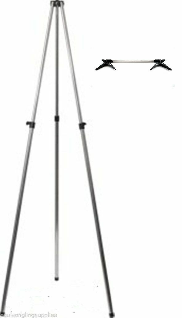 Fladen 3-6ft Telescopic Alloy Sea Fishing  Tripod   Beach Rest 2 Rod V Head