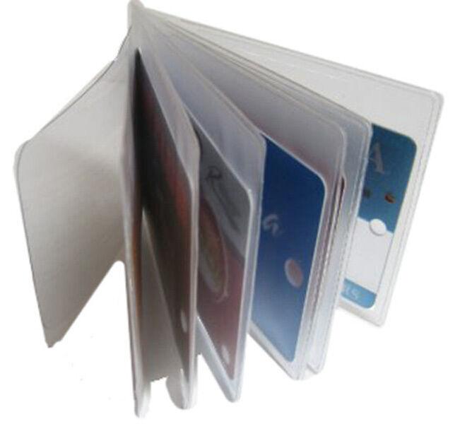2 Klar Ärmel Plastik 6 Seite Einsatz Replacmet Kreditkarteninhaber Geldbörse