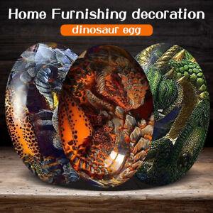Dinosaur Egg Resin Sculpture Crystal Lava Dragon Egg Souvenir Collection Gift US