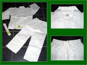 Neuer-Gi-Karateanzug-Karate-Anzug-weiss-Gr-120-190-Mod-8