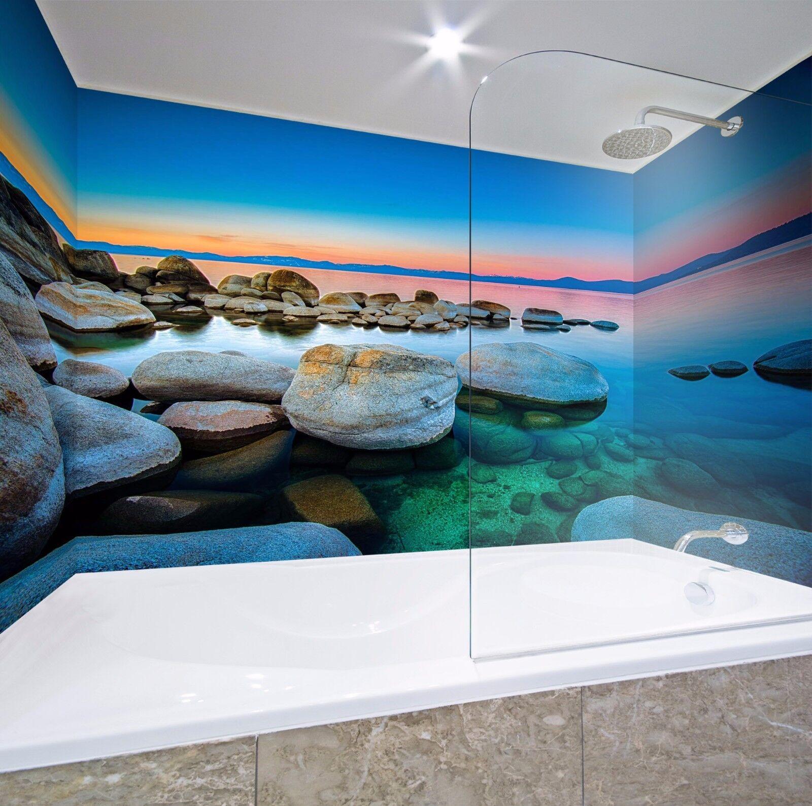 3D Sunset Sea 547 WallPaper Bathroom Print Decal Wall Deco AJ WALLPAPER AU