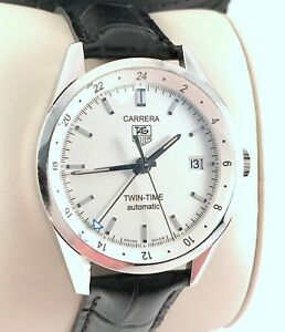 cc0e61299f8a Tag Heuer Carrera Calibre 7 Twin Time Mens Automatic Watch Exc. Cond ...