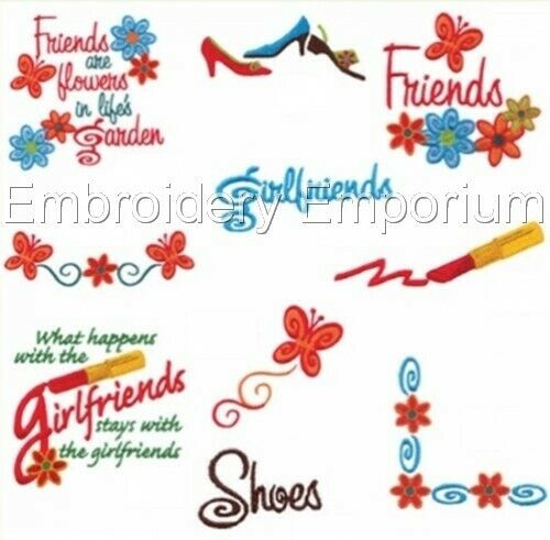 Girlfriends Collection-Machine Embroidery Designs sur cd ou USB