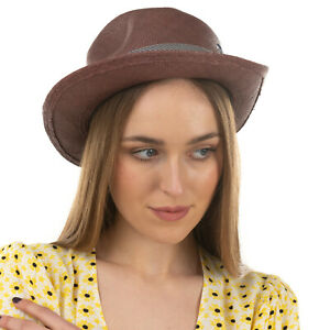 RRP €120 CHRISTYS' Straw Panama Trilby Hat Size 55 / S HAND WOVEN Made in UK