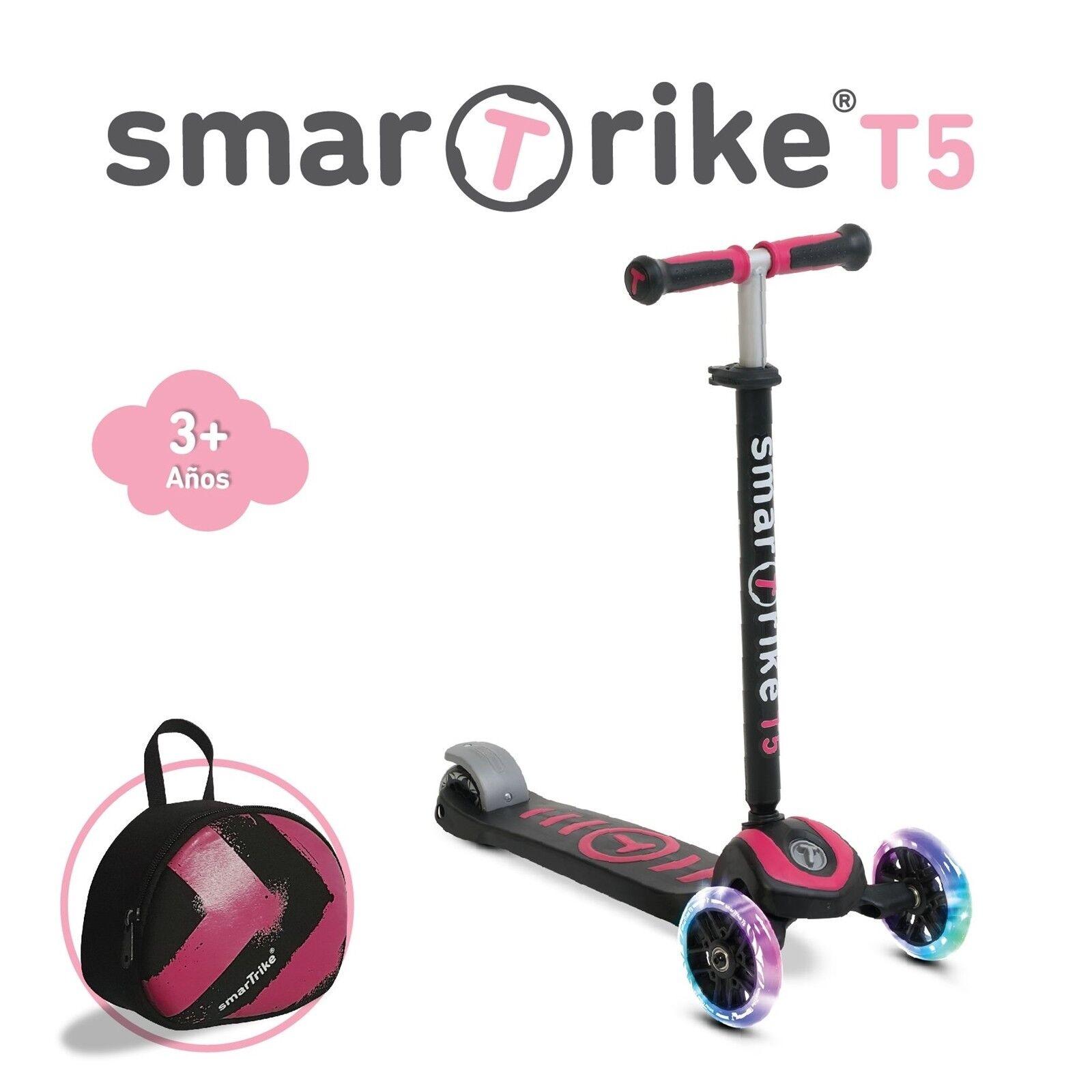 SmarTrike Scooter T5 Roller ab 5 Jahren bis 50 Kilo schwarz-Rosa NEU