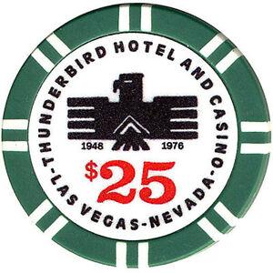 $25 Thunderbird CASINO Fantasy Chip Las Vegas Nevada FREE Shipping *