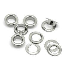 100 Occhielli Alluminio Argento 10mm telone telo coprigommone copribarca telone