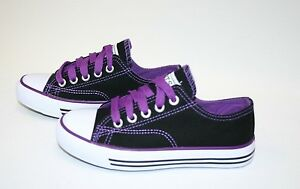 Kid's Classic Shoes Canvas Athletic Lace Tennis Boy's Girl's Rubber Sole sz 10-4