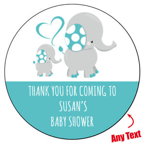 48 x BABY SHOWER Personalised Stickers Pink Girl Invitation Party Bag Mommy 889