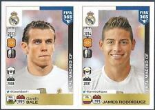 PANINI-2016 FIFA 365- #394-395-REAL MADRID-GARETH BALE-JAMES RODRIGUEZ