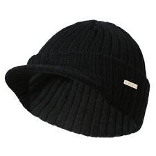 89b835405b4 item 2 Men s Winter Warm Visor Brim Beanie with Bill Knit Baseball Cap  Skull Hat -Men s Winter Warm Visor Brim Beanie with Bill Knit Baseball Cap  Skull Hat