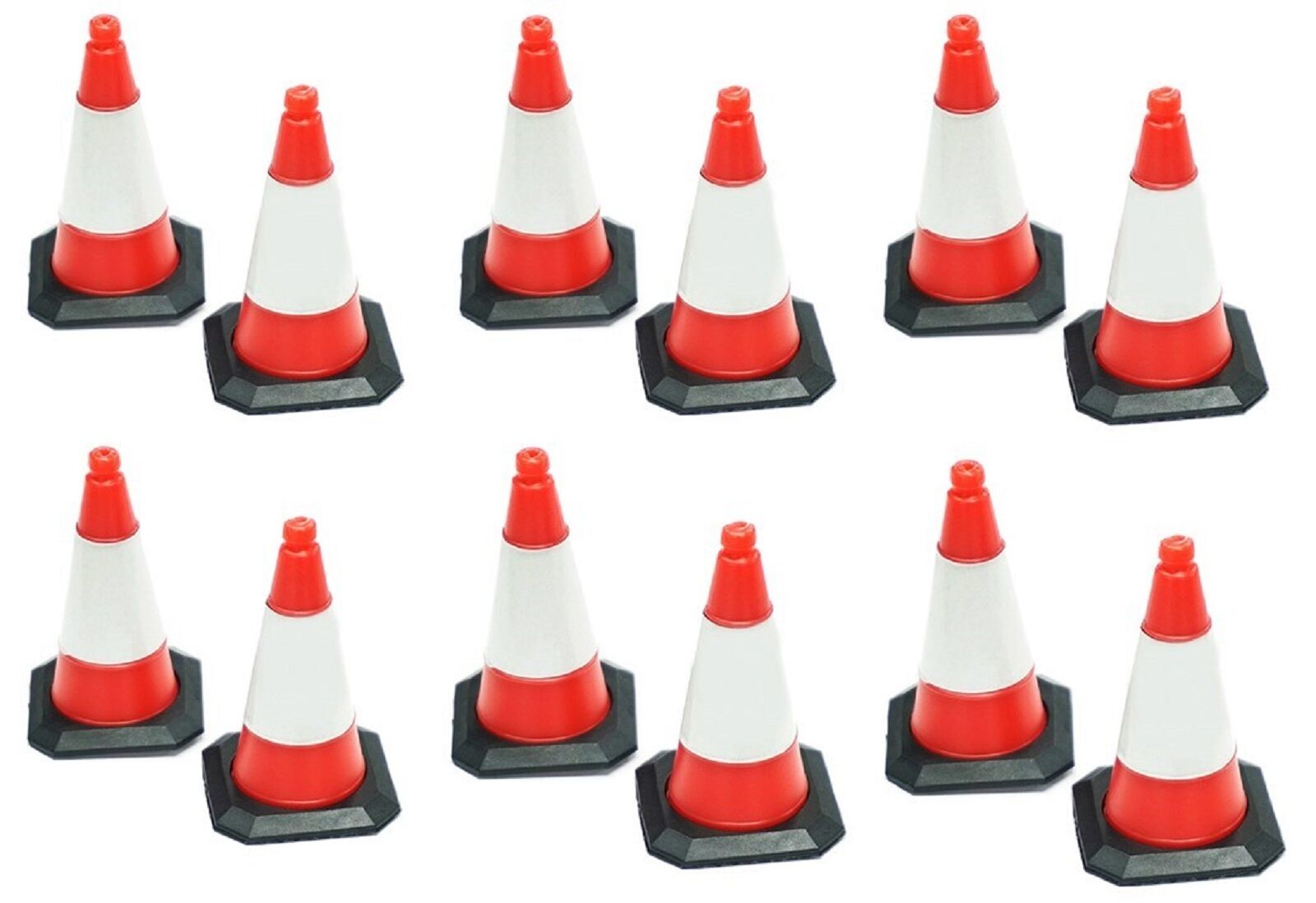 1 10 th scale traffic cones cones cones as an RC accessory- 12 pieces suit Axial D90 garage 39efd5
