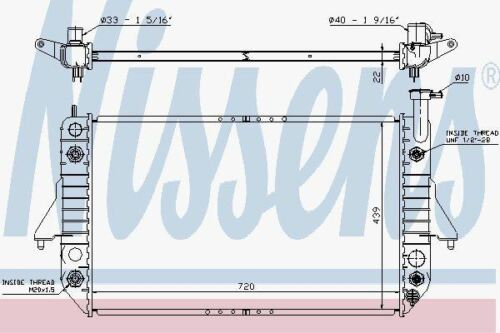 Nissens 60908 Radiator fit CHEVROLET ASTRO 4.3 95