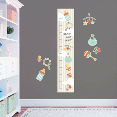 8 Wall Stickers Baby Rattle Dummy Bottle Custom Measuring Height Growth Chart