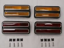 68 69 70 71 72 Chevy GMC TRUCK SIDE MARKER LAMPS DELUXE WITH TRIM