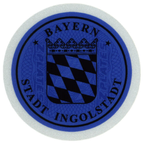 German License Plate Temporary Seal