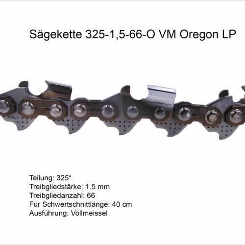Oregon LP Sägekette 325 1.5 mm 66 TG VM Ersatzkette