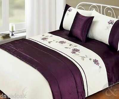 Just Contempo King Size Bedding Set, Faux Satin/Silk 5pc Bed in a Bag - FREE P&P