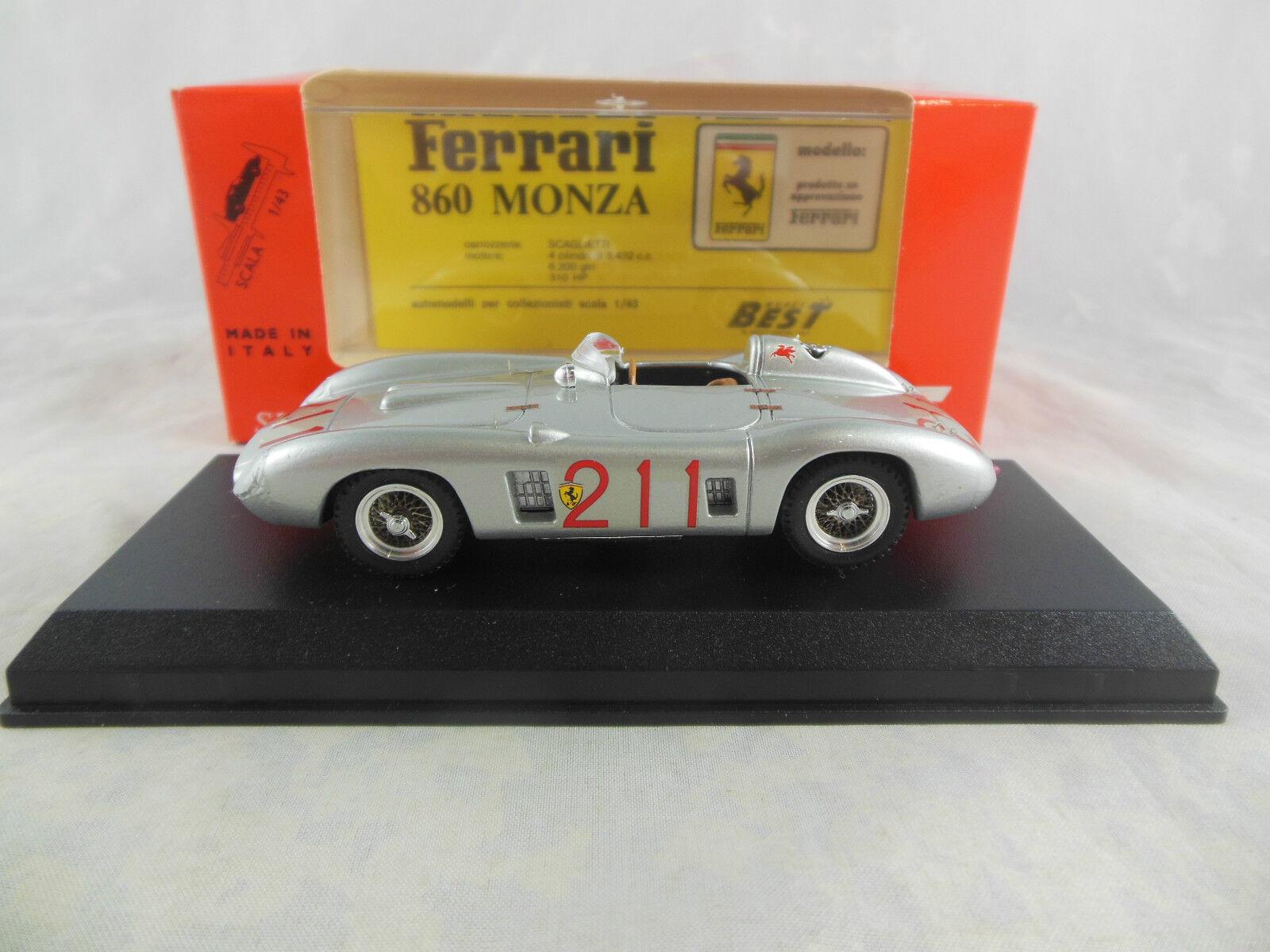 Best Model 9134 Ferrari 860 Monza in Red 1958 Riverside Racing No 211 Ginter