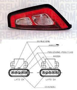 FIAT PUNTO 2012 FARO FANALE STOP A LED POSTERIORE SINISTRO cornice nera