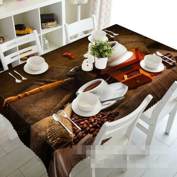 3D Coffee 45 Tablecloth Table Cover Cloth Birthday Party Event AJ WALLPAPER AU