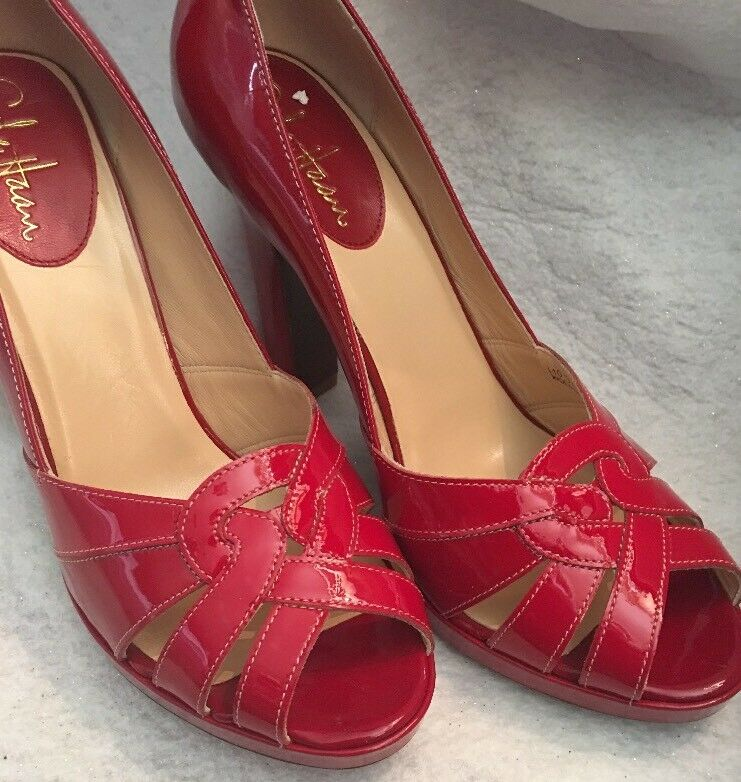 Cole Haan Charlize Red Heel Pumps Red Leather Women's shoes Size 9.5 B NIB new
