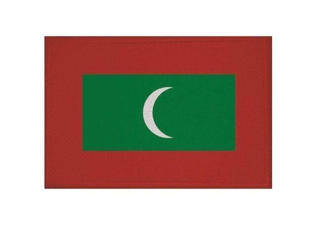 Aufnäher Malediven Fahne Flagge Aufbügler Patch 9 x 6 cm