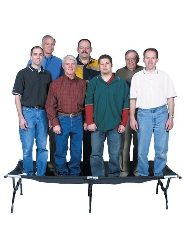 Heavy Duty Cot  Camping Cots For Adults XXL Oversized Hunting Bed Holds 600 Lbs  free shipping & exchanges.