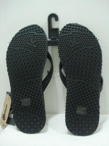MICROS Men/'s Flip Flops Thong Sandal MZSD-353 Black//White Size 9 New