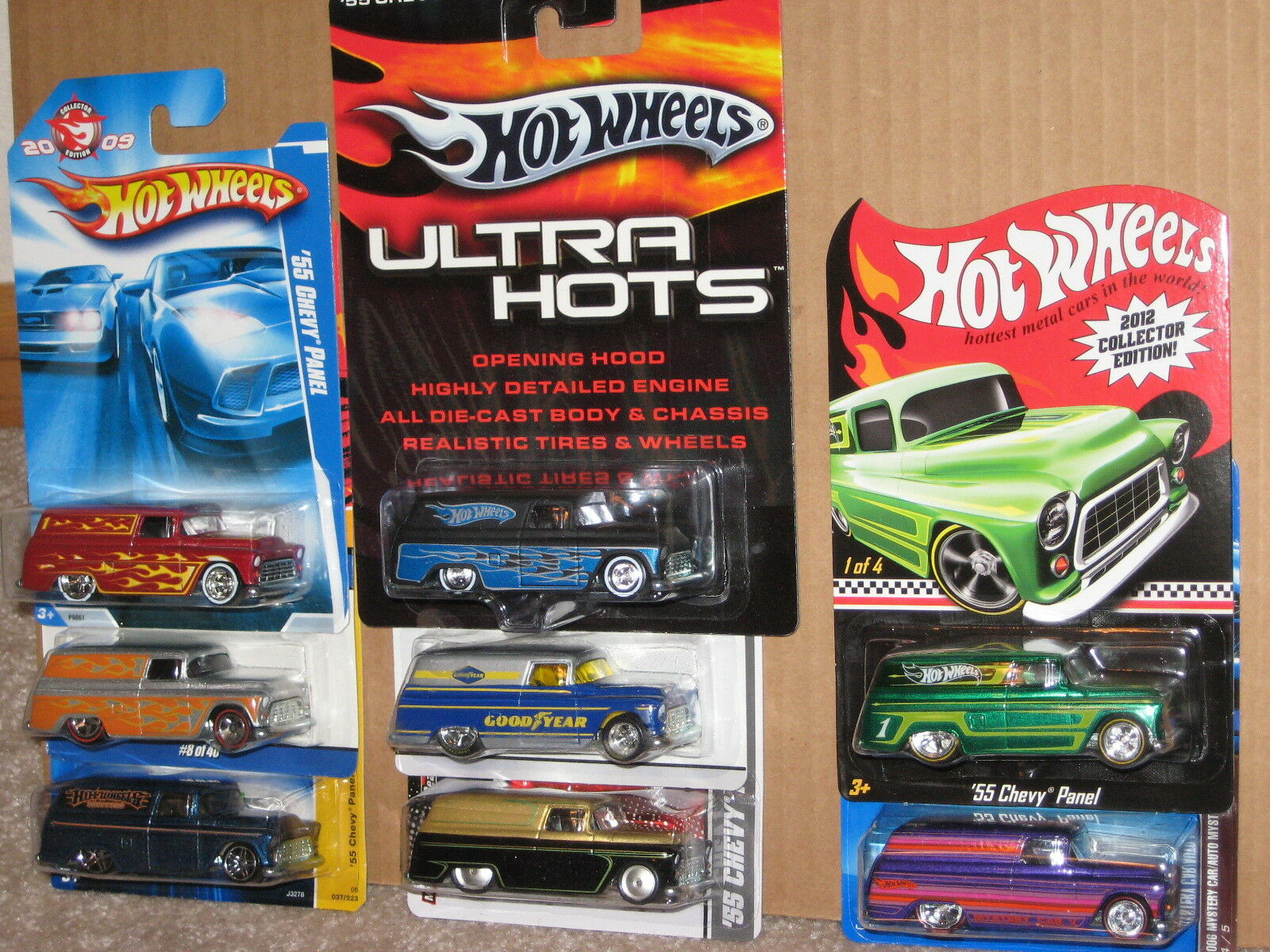Hot Wheels Nice Lot Lot Lot of 8 '55 Chevy Panel Variation Garage Mail In K Mart 1955 cb36f8