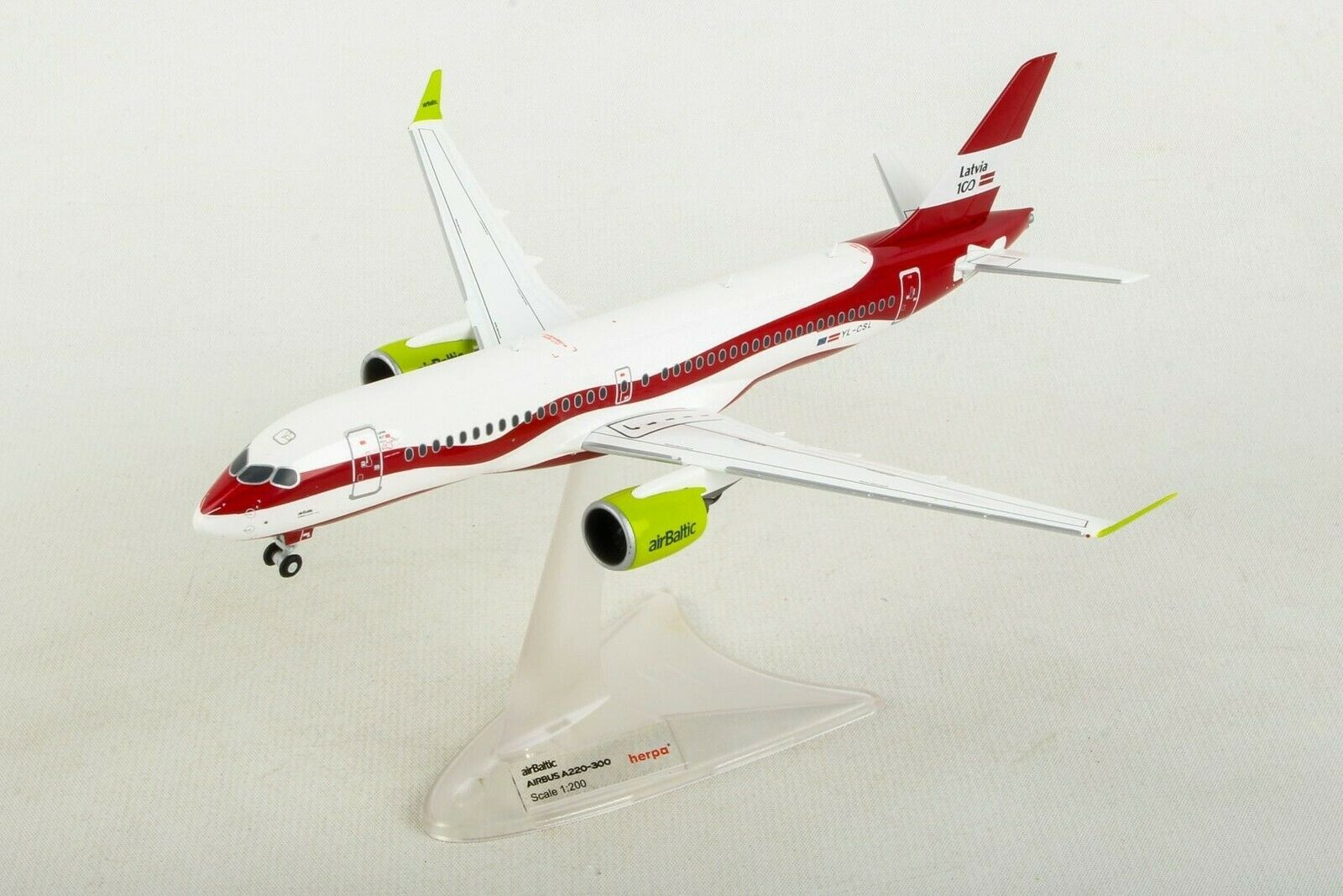 Herpa Wings Luft Ostsee 100 Jahre Zoll Airbus A220-300 1 200