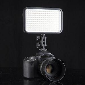 1x 228LED Video Light for Camera DV Camcorder Lighting 6000K/3200K Black Case SM