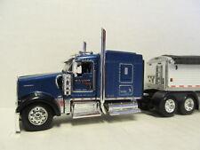 DCP 1/64 SCALE W-900 KENWORTH  BLUE & WILSON GRAIN TRAILER  (HILL TOP FARMS)