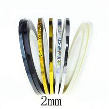 2mm Nail Art Striping Roll Tape Line Transfer Nail Sticker Nail Tip Decoration