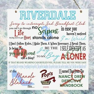 Riverdale TV Show Quotes Plaque Birthday Gift Present Metal Sign Wall